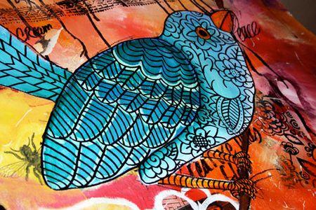 Canvas-bird