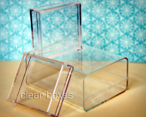 Clear boxes