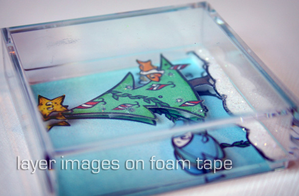Layer images on foam tape
