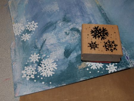 Page 1 stamping snowflakes