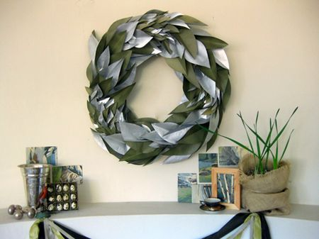 design sponge is one of my very favorite places to go for home decor inspiration this diy tissue paper wreath is from that blog and its all made from - Home Decoration Stuff