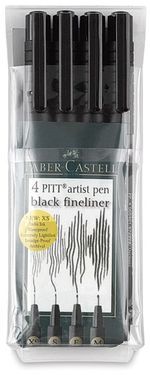 Black, Fineliner Set of 4