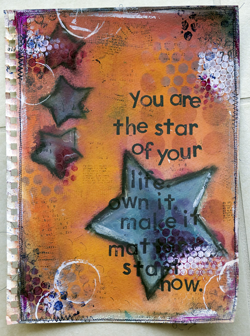 Art Book Cover Inspiration ~ Balzer designs art journal every day discovering her style