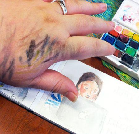 Juryduty-paintedhand