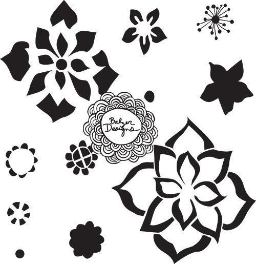Flowers-stencil