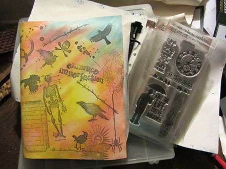 Home made storgae binders for time holtz halloween stamps