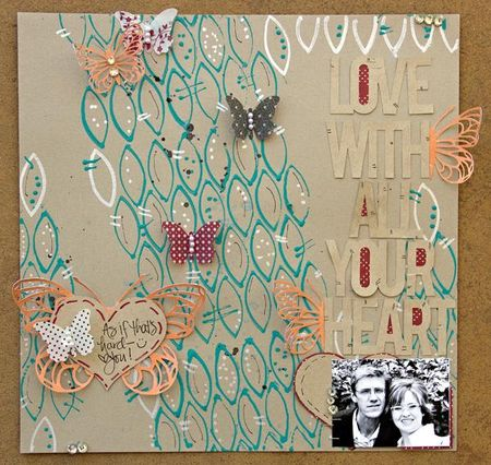 Love layout by Leslie Ashe