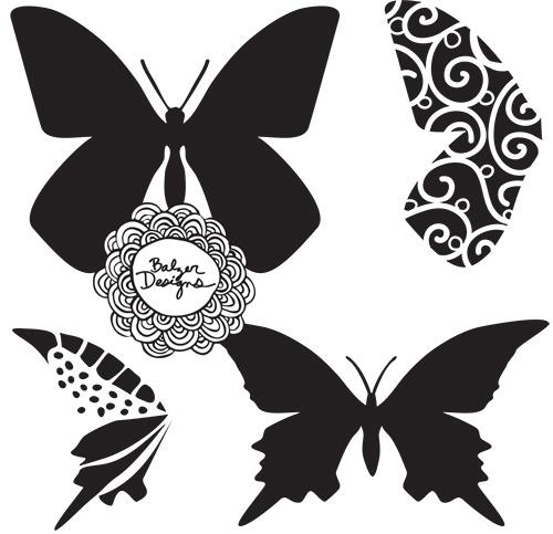 Butterflies-stencil