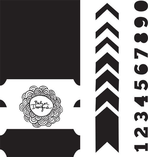 Tickets-stencil