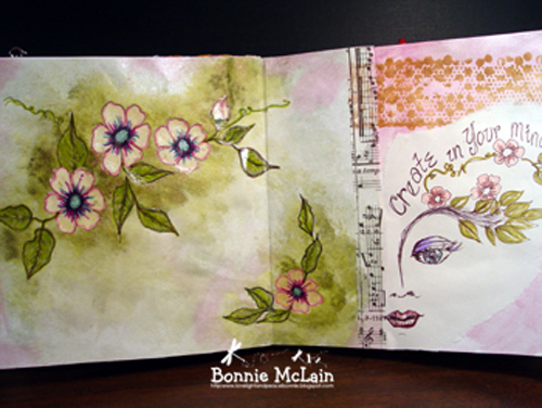 8    flowers and face  by Bonnie McLain