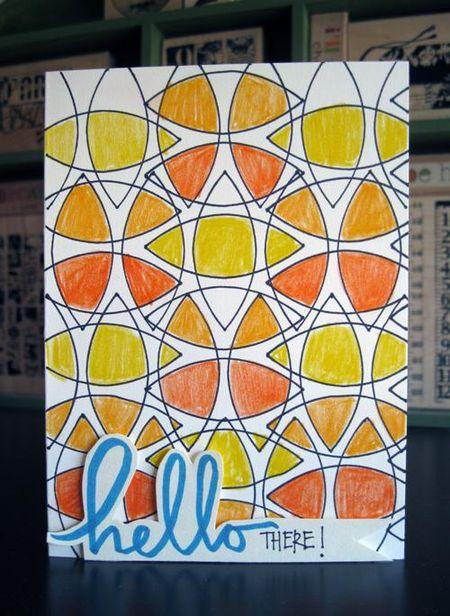 Hello Card by Mou Saha