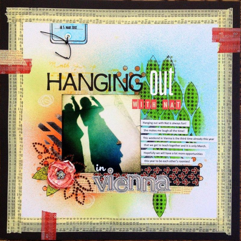 Hanging out with Nat layout - birgit koopsen
