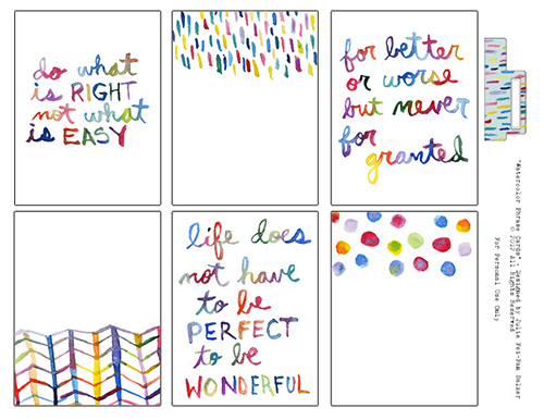 Watercolorphrases