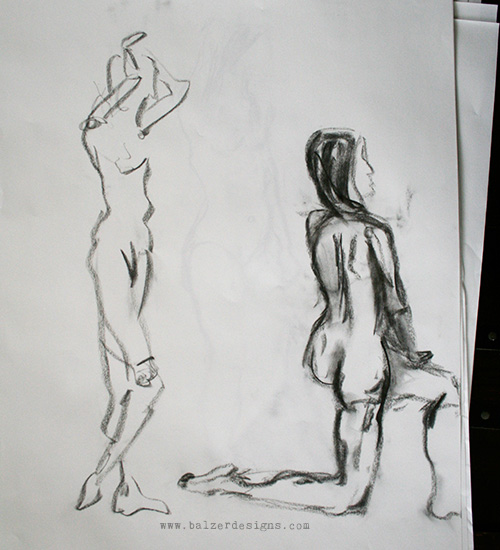 Balzer Designs: Short Pose Figure Drawing Class (part two)