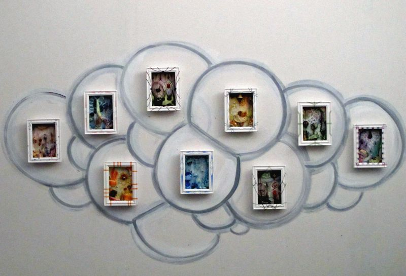 Bubble installation view