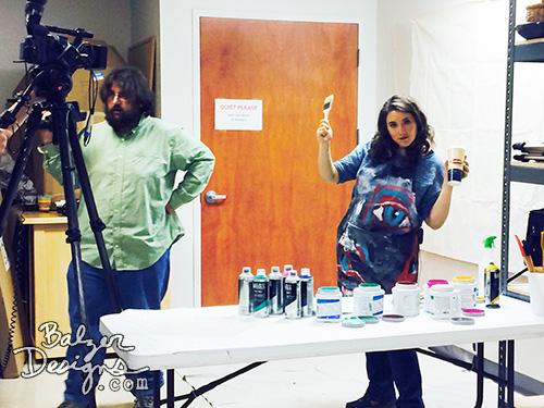 Balzer Designs Filming The Mixed Media Workshop Season 2