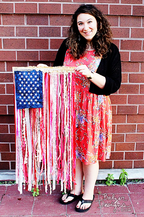 from the Balzer Designs Blog: DIY Ribbon Flag Tutorial