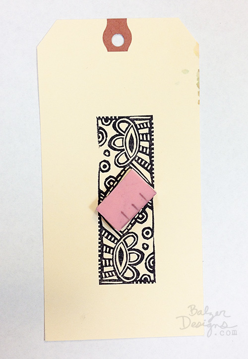 from the Balzer Designs Blog: Interlocking Garbage Stamps
