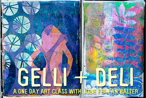 from the Balzer Designs Blog: Gelli + Deli a new in-person class with Julie Fei-Fan Balzer, September 12 at The Ink Pad in NYC