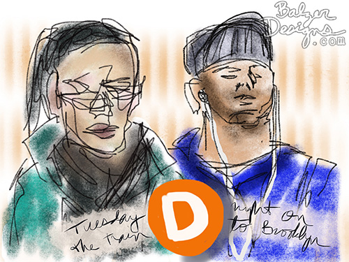 from the Balzer Designs Blog: iPad Subway Doodles