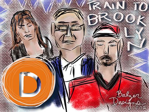 from the Balzer Designs Blog: iPad Subway Doodles