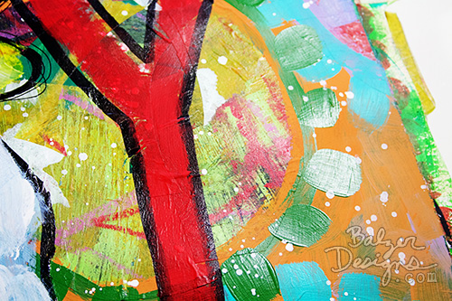 from the Balzer Designs Blog: Mixed Media Monthly Challenge #artjournal
