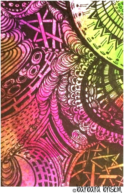 Multi color doodle 1