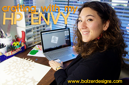 from the Balzer Designs Blog: Crafting with my HP Envy #IntelTablets