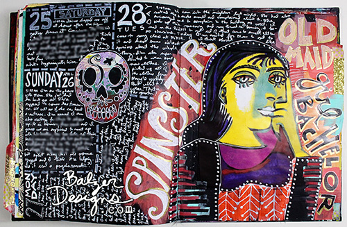 from the Balzer Designs Blog: Best of 2015: Art Journal Pages #artjournal