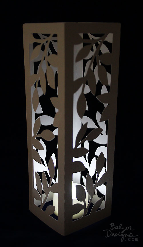 from the Balzer Designs Blog: #ScanNCut Project: Leafy Votive Candle Holder