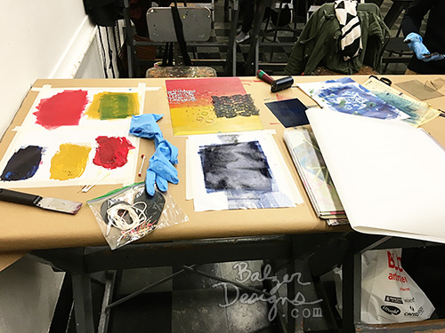 from the Balzer Designs Blog: Printmaking Class at the #MFABoston: Class #2