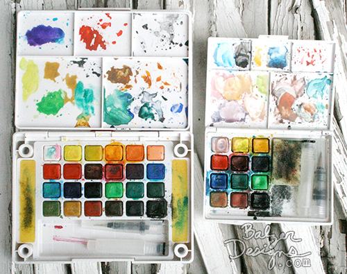 image from balzerdesigns.typepad.com Exploring Art Supplies: Koi Watercolors Box of 30 #sakuraofamerica
