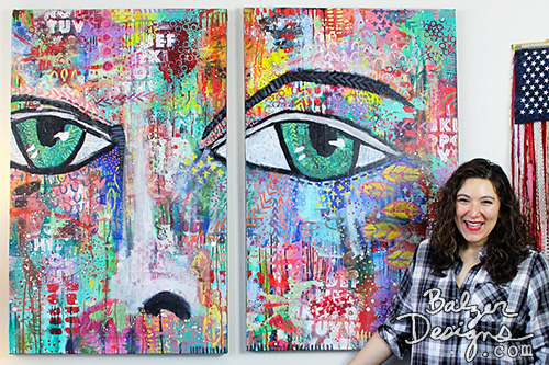 from the Balzer Designs Blog: Canvas #34: Diptych #100canvases