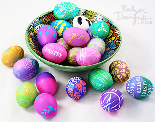 from the Balzer Designs Blog: Easter Eggs