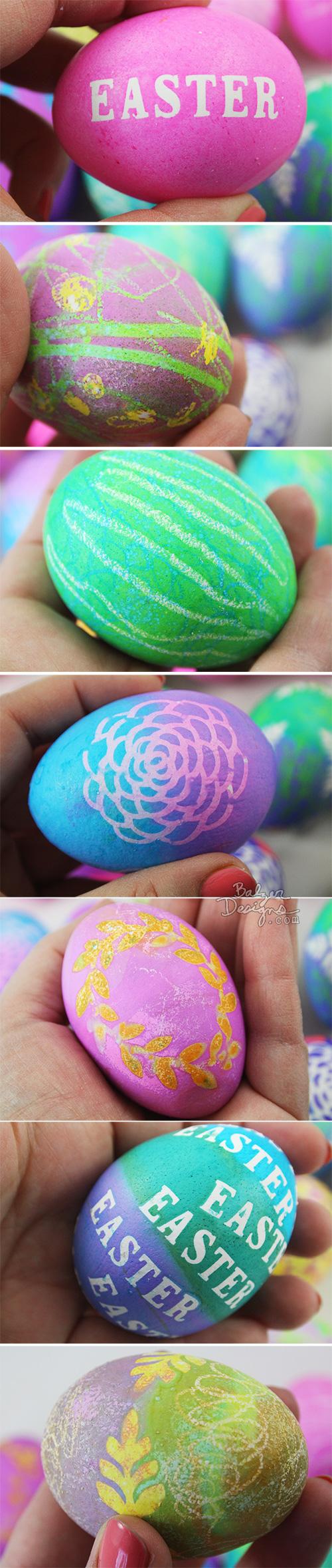 from the Balzer Designs Blog: Easter Eggs