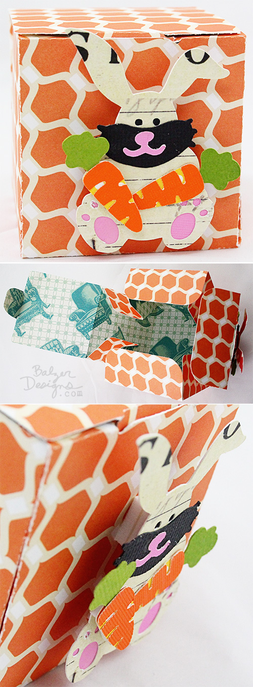from the Balzer Designs Blog: Paper Boxes #ScanNCut
