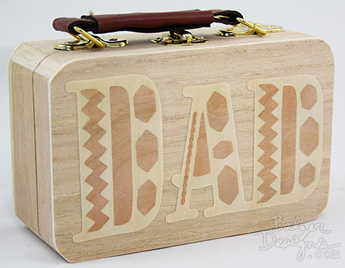 from the Balzer Designs Blog: #ScanNCut Wood Inlay Briefcase for Father's Day