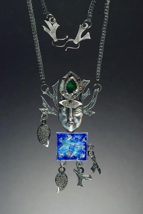 Winter's Blue Promise Neckpiece