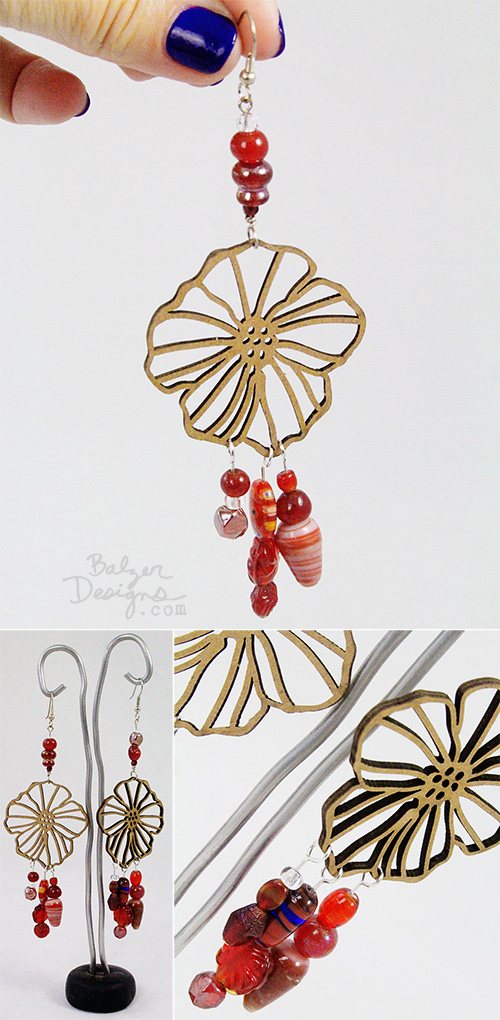 from the Balzer Designs Blog: Chipboard Earrings 4 Ways #videotutorial