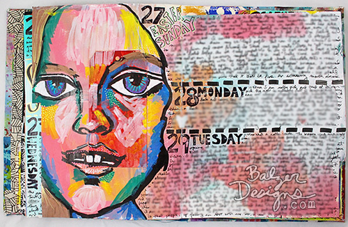 from the Balzer Designs Blog: Art Journal Every Day: Dealing with Journal Envy #artjournal #artjournaleveryday