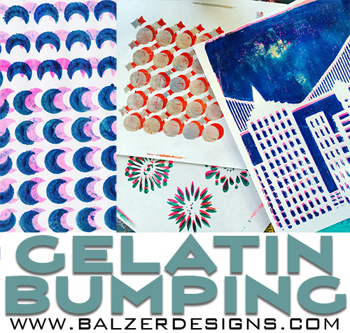 from the Balzer Designs Blog: Tutorial: Gelatin Bumping