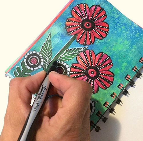 From the Balzer Designs Blog: Art Journal Every Day #AJED #ArtJournalEveryDay