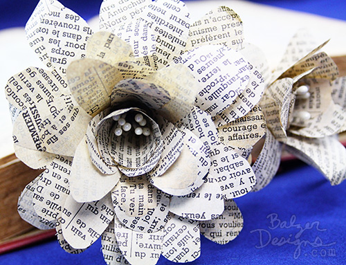 Balzer designs how to make paper flowers from book pages from the balzer designs blog how to make paper flowers from book pages mightylinksfo
