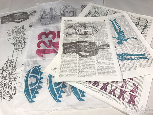 From the Balzer Designs Blog: Art Journal Every Day: Guest Post: Stress Free Stamping with Melita Bloomer