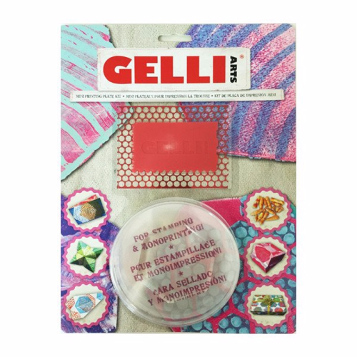 from the Balzer Designs Blog: Exploring the Gelli Arts Mini Printing Kit (Hexagon) #gelliprinting