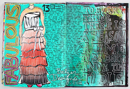 from the Balzer Designs Blog: Art Journal Every Day #artjournal #artjournaleveryday