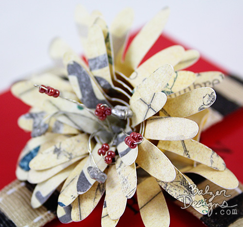 from the Balzer Designs Blog: #ScanNCut Rolled Paper Flower Gift Box