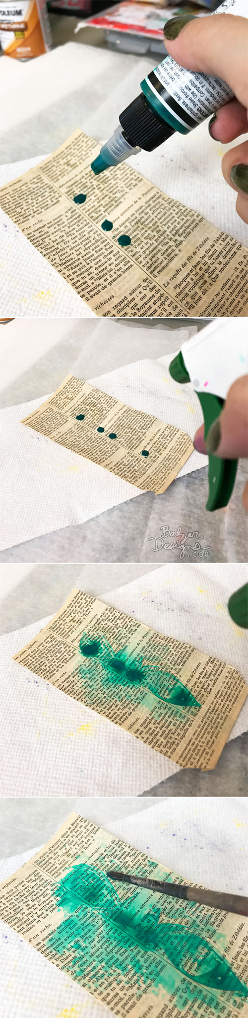 From the Balzer Designs Blog: Summer Stencil Techniques with Suzanne: Irresistible Technique