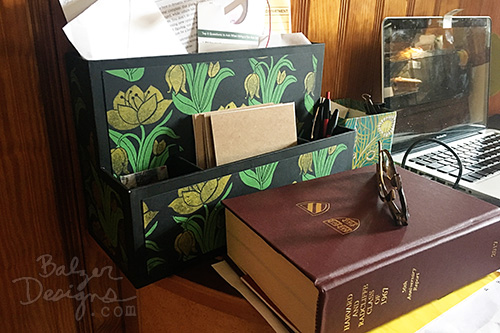from the Balzer Designs Blog: Desk Caddy Tranformation