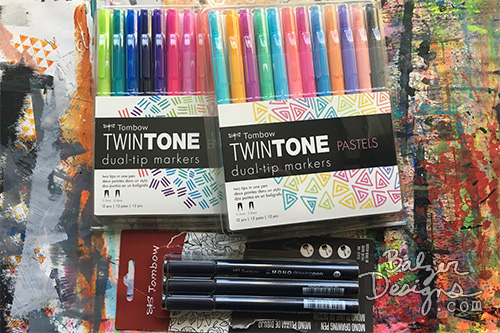 from the Balzer Designs Blog: Exploring the Tombow MONO Drawing Pens & TwinTONE Markers